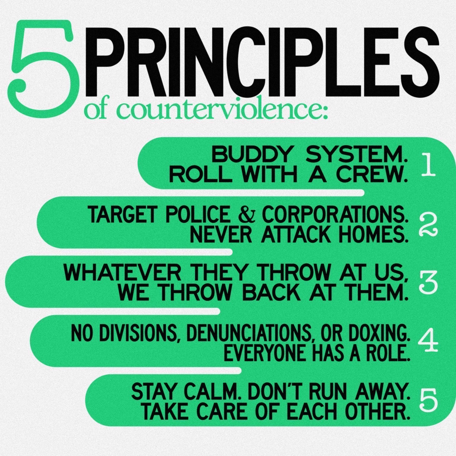Five Principles of Counterviolence